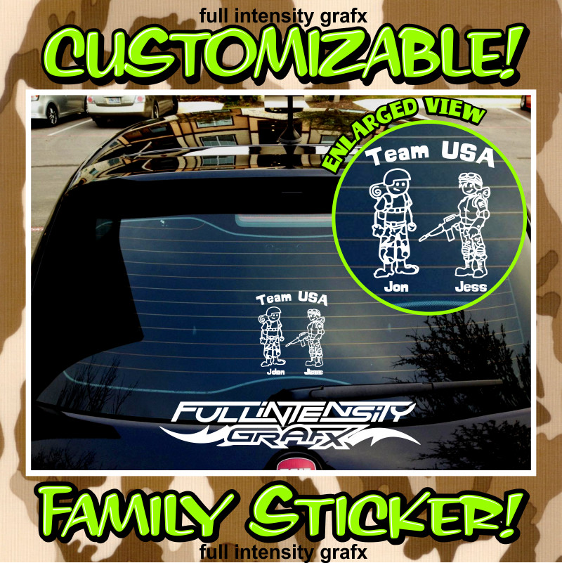 Army family sticker