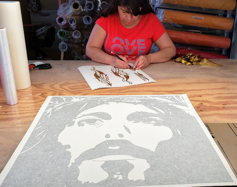 Extra large Jesus vinyl decal
