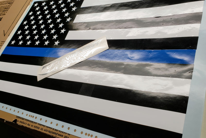 Blue Lives Matter American Flag Decal