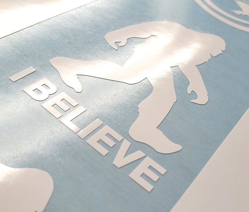 Bigfoot I Believe Decal