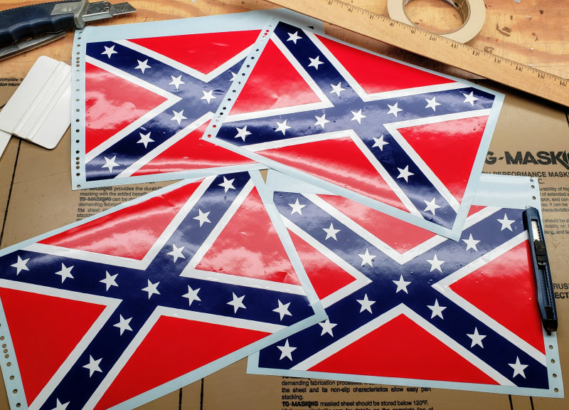 rebel flag decals