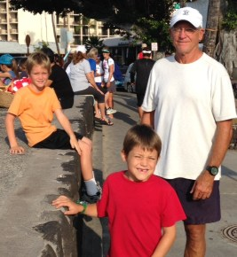 Nate nailed the mile and Joel came in 17th in his first 5K... that's out of all the adults... he even beat Coach Phil :)