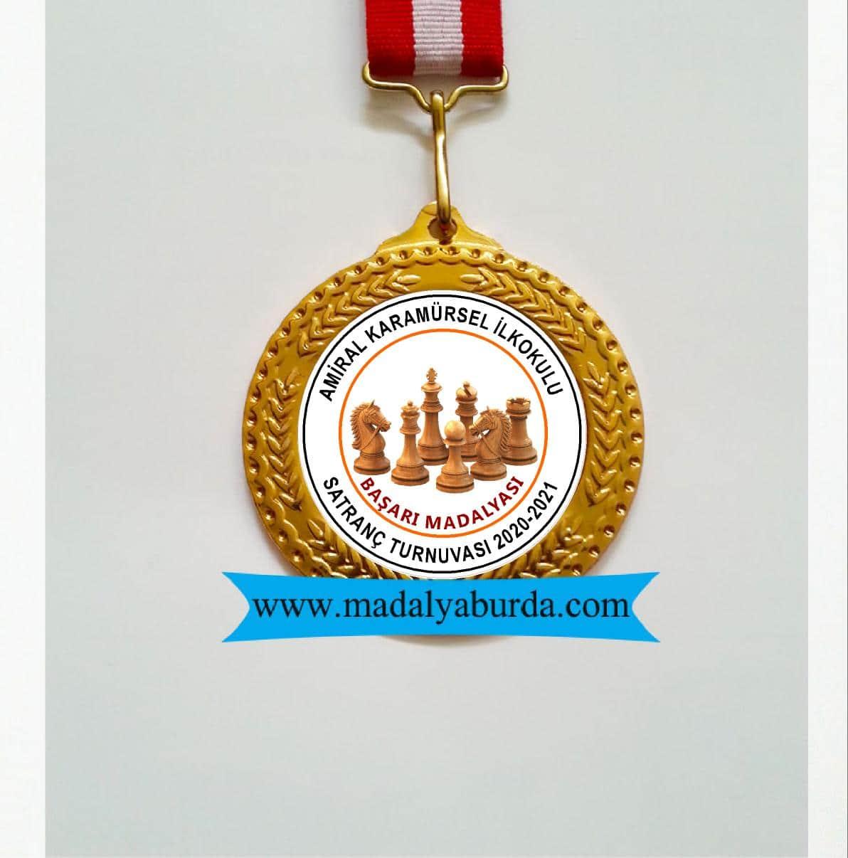 satranç okul turnuva madalyası