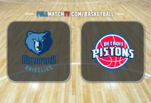 Memphis Grizzlies vs Detroit Pistons