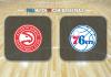Atlanta Hawks vs Philadelphia 76ers
