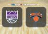 Sacramento Kings vs New York Knicks