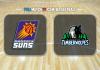 Phoenix Suns vs Minnesota Timberwolves