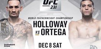 UFC 231 Holloway vs Ortega