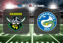 Canberra Raiders vs Parramatta Eels