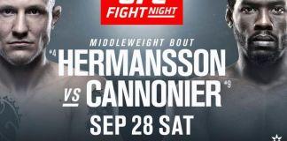 UFC Fight Night Hermansson vs Cannonier