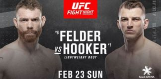 UFC Fight Night 168: Felder vs. Hooker
