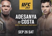 UFC 253: Adesanya vs Costa