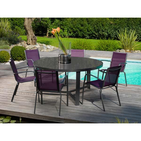 salon de jardin table ronde table de