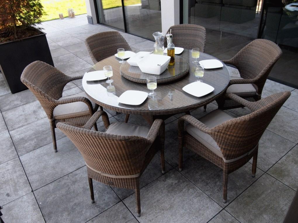 chaise de jardin en resine table