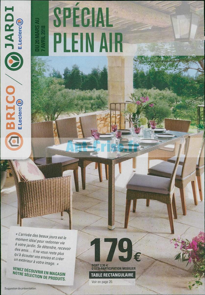 leclerc mobilier de jardin