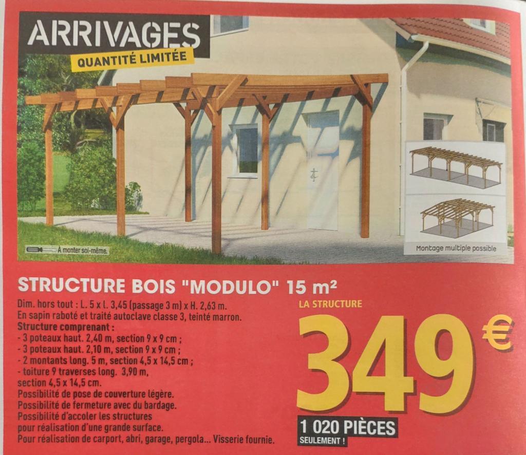 Structure Bois Modulo 15m Dealabs Concernant Carport Bois Brico Depot Idees Conception Jardin Idees Conception Jardin