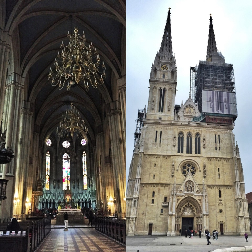 The cathedral that the walls protected for several centuries. Construction began in the 1200s.