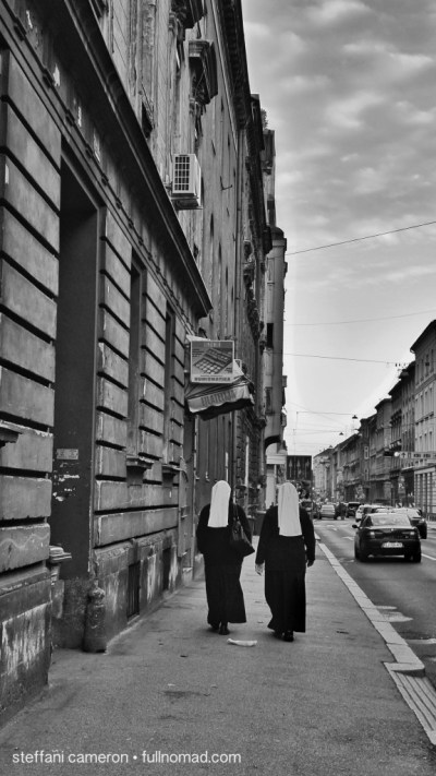 """Zagreb's """"Sister Act"""" -- I've seen more nuns here in 2 weeks than in Canada in 2 decades."""