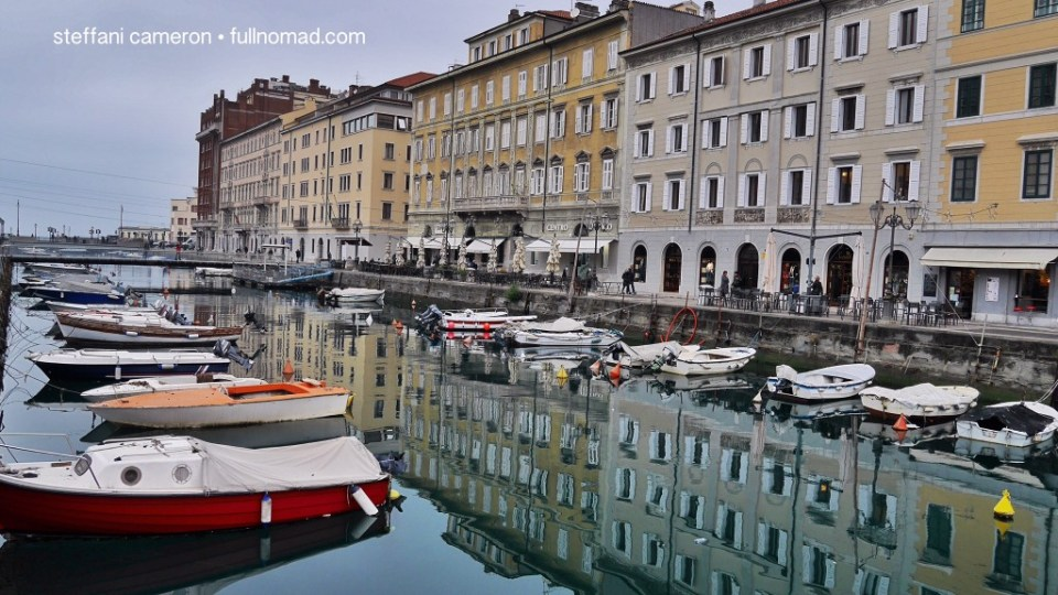 """Boats, Habsburg architecture. Here's Northern Italy to a T -- """"T"""" as in """"Trieste."""""""