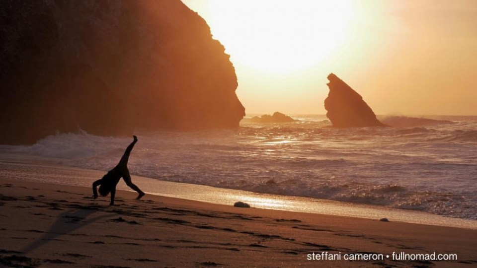 Okay, some things are free. Watching a kid do somersaults in the sunset, that's free. By me, at the Praia da Adraga, one of Europe's most stunning beaches, under an hour from Lisbon. But you wanna drive slow. Trust me.