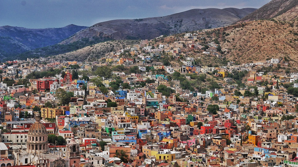 Guanajuato from above. I find myself pensive when staring down at a city like this. So many lives, so much adversity and variety, and all of it both visible yet invisible to us at once. How many people were struggling to pay rent that day? Or mourning a loss? Or celebrating a birth or marriage? Yet all we see are facades. So true of life in general, and something that should keep us all aware that life is a fairground ride that never stops.