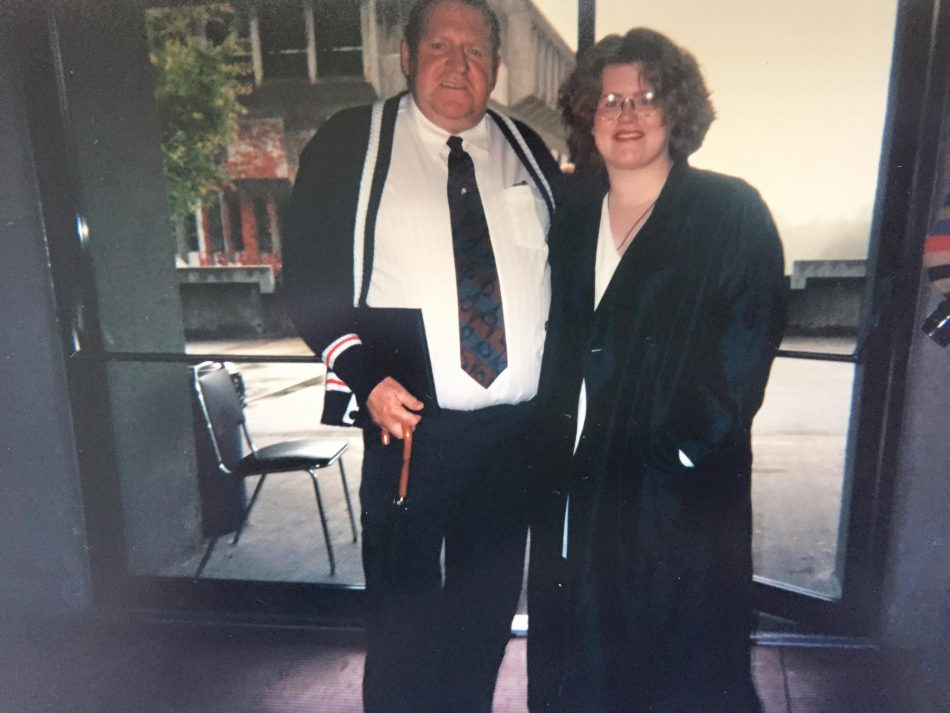 This was taken the day my father received his Master's in Education. I was the only one in our family there for him that day, and I think he always appreciated that. I'm glad I was there for him.