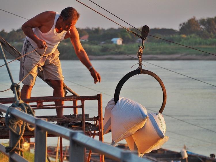 Mekong fish farmer