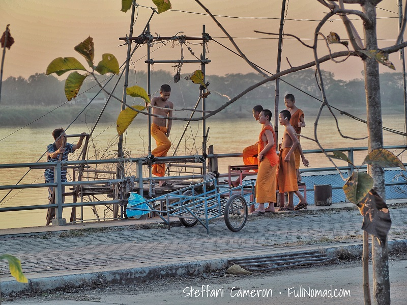 Buddhist monks hanging out