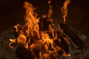 In shamanism fire is not only an element but a powerful symbol of death and renewal. The potency of fire as it burns wood for heat and changes the wood to ash, a total transformation of form.
