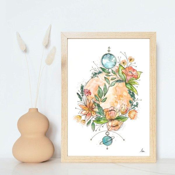 illustration aquarelle totem litha