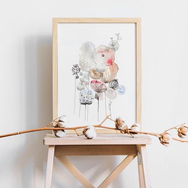 illustration aquarelle fleurs sérénité
