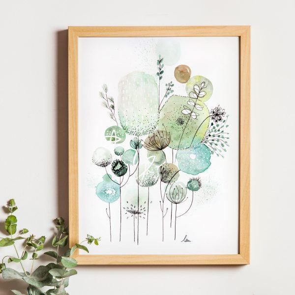 illustration aquarelle fleurs sauvages