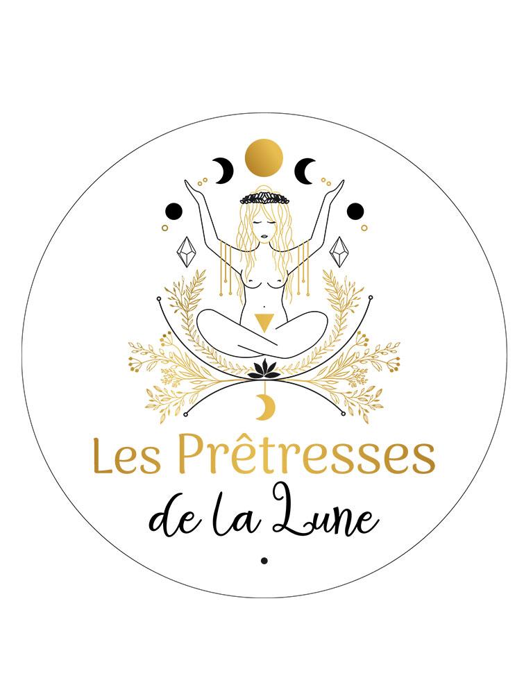 Création de logo, identité visuelle, Pretresse de la lune, By Full of Lau.