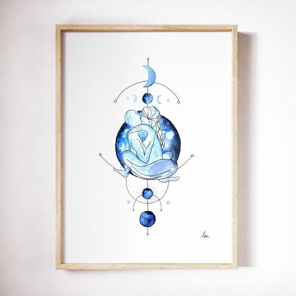 illustration aquarelle totem osmose du couple