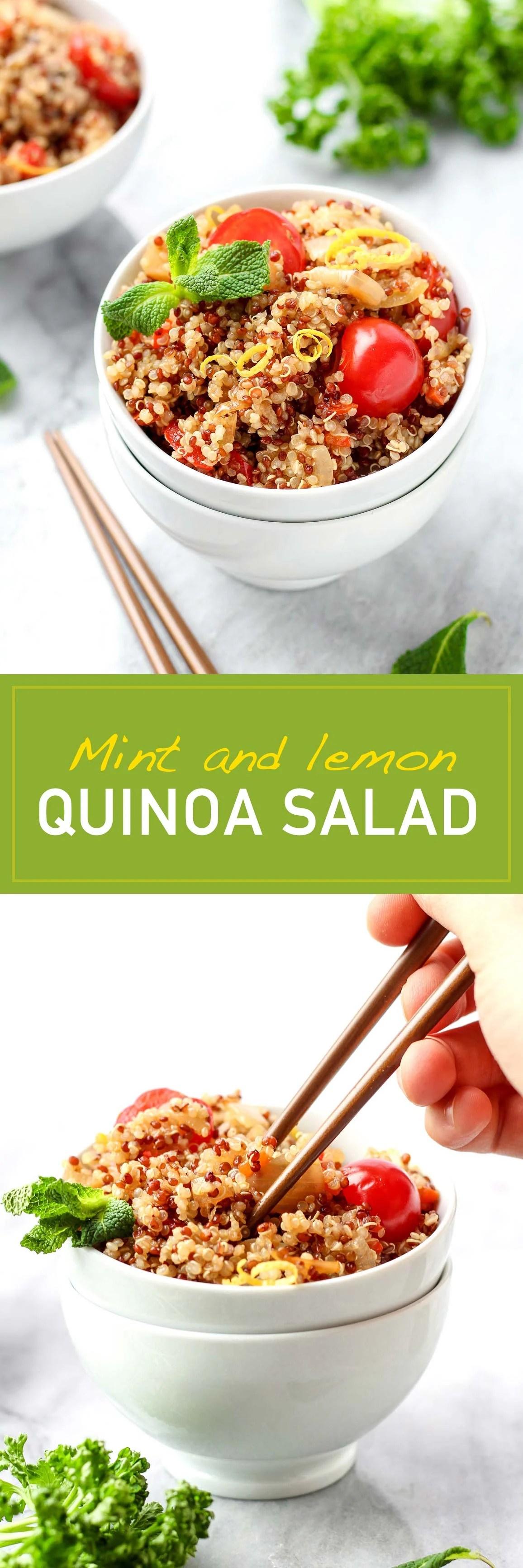 Mint Lemon Quinoa Salad
