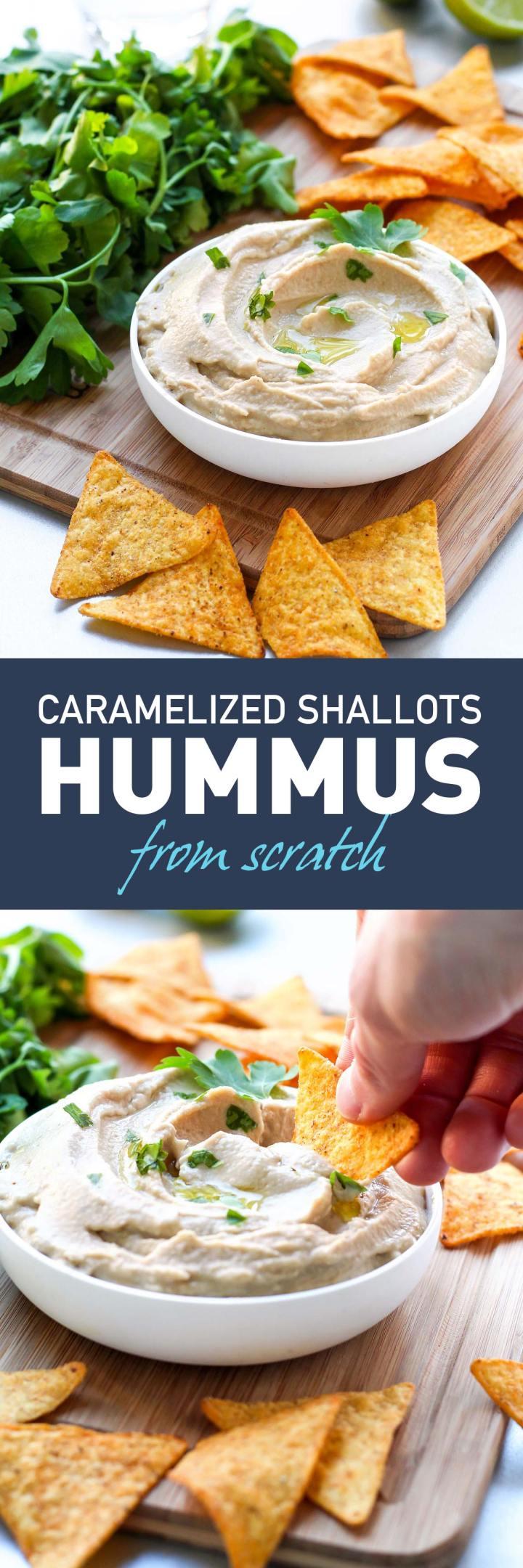 Smooth Caramelized Shallots Hummus