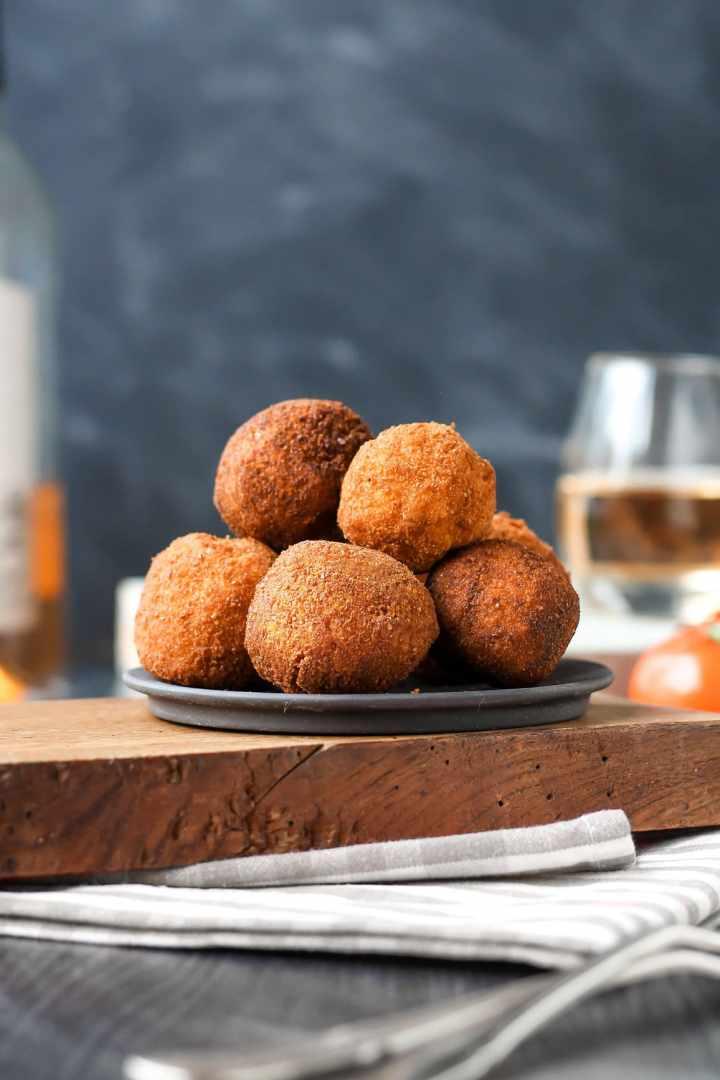 Vegan Fried Goat Cheese Balls