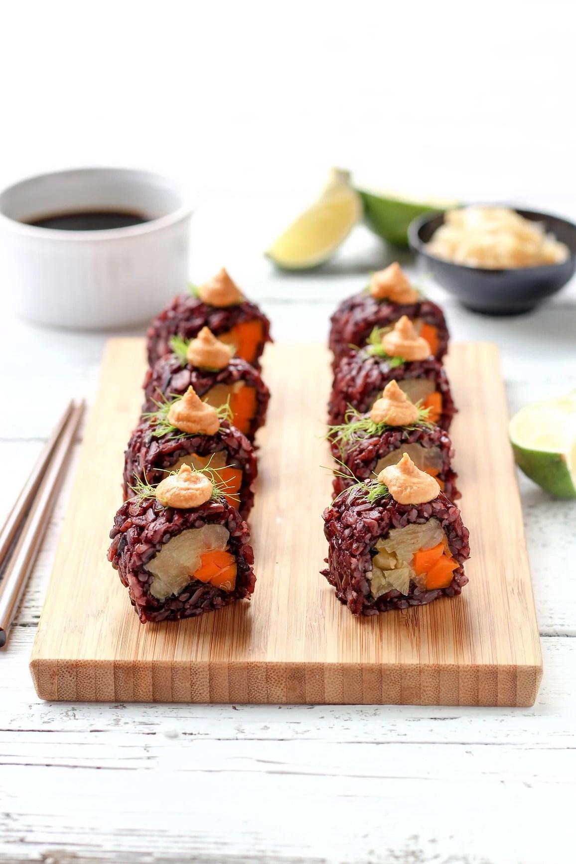 Vegan Braised Fennel Sushi