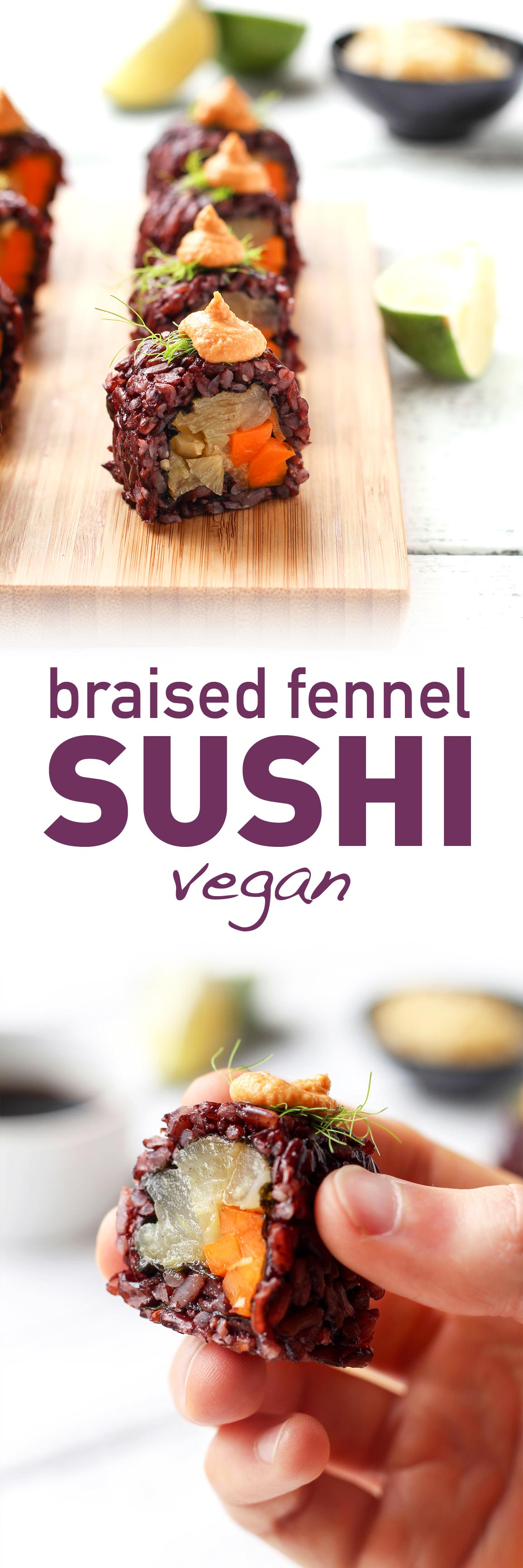 Vegan Braised Fennel Sushi