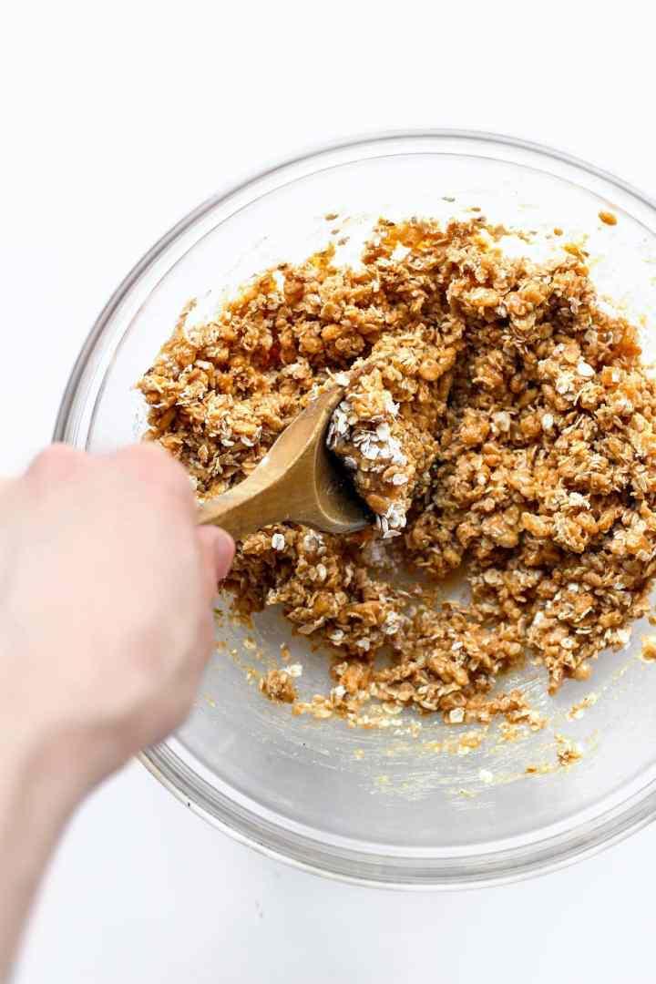 Nutella Filled Granola Bars