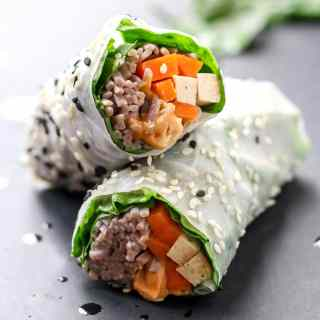 Nutty Power Summer Rolls