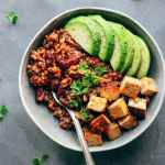 Vegan Enchilada Power Bowls with Spicy Tofu