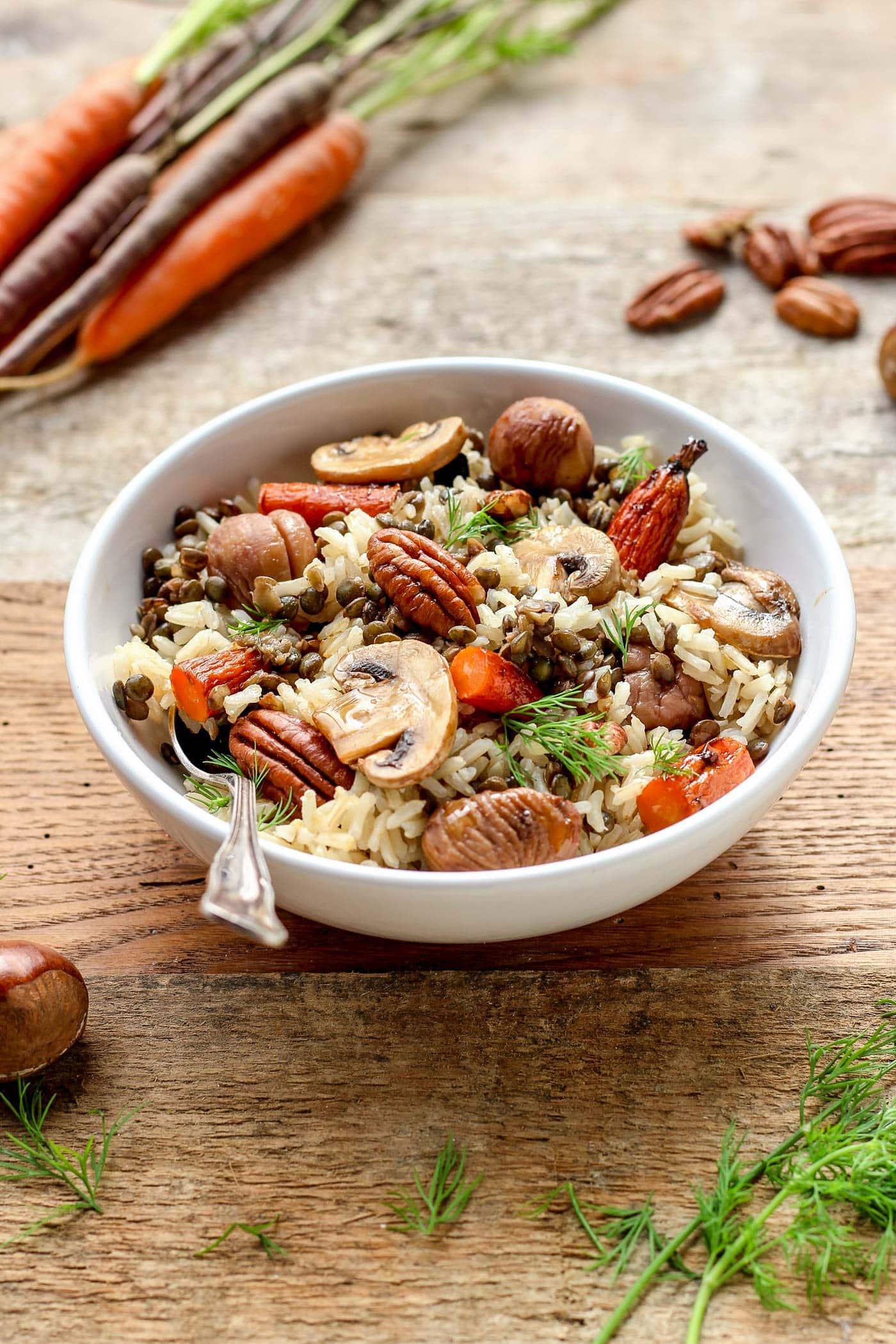 Vegan Fall Forest Salad