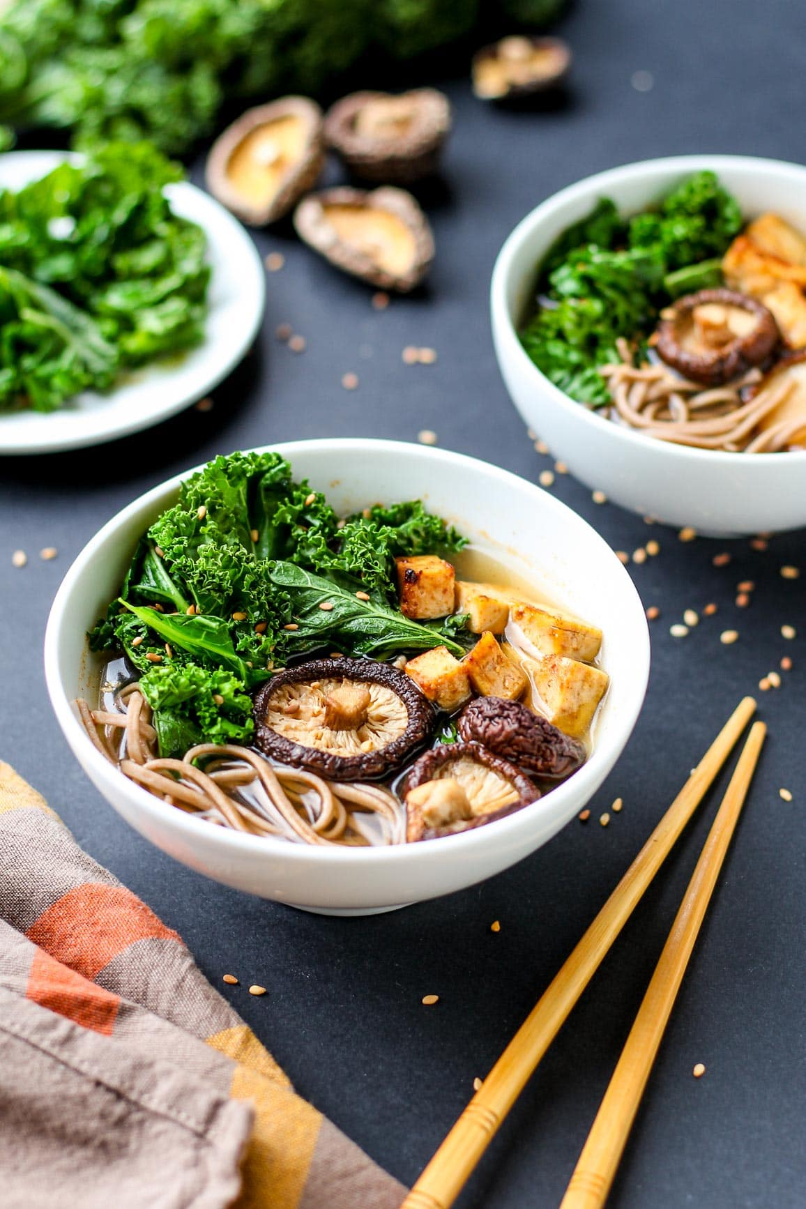 Lemongrass and Shiitake Soup with Kale and Tofu
