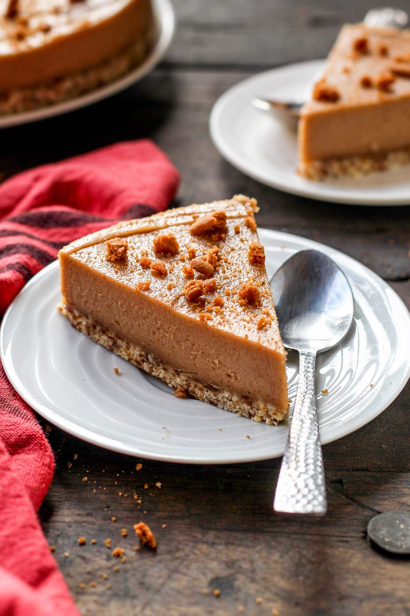 Vegan Cookie Butter Cheesecake