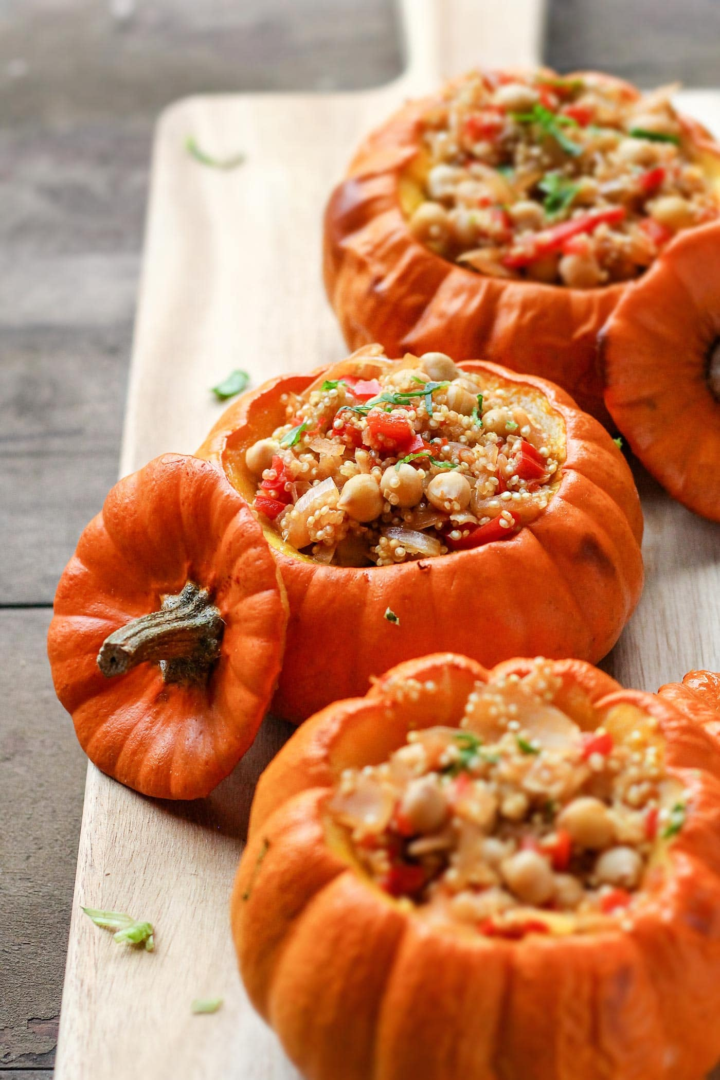 Quinoa Risotto Stuffed Pumpkins