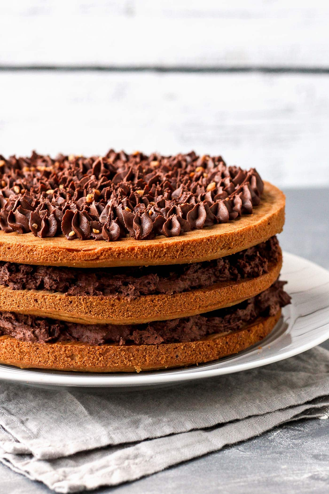 White Wine Chocolate Layer Cake (Vegan)