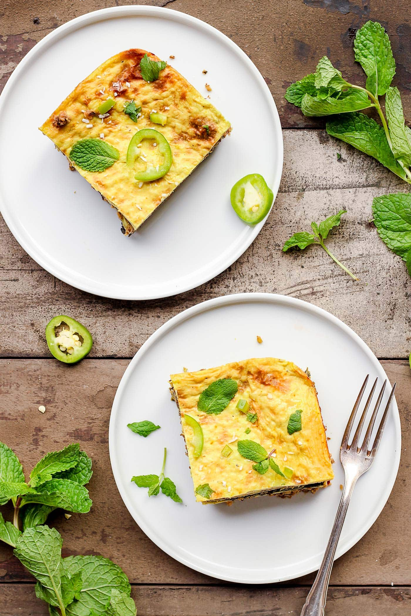 Vegan Spinach and Mint Lasagna