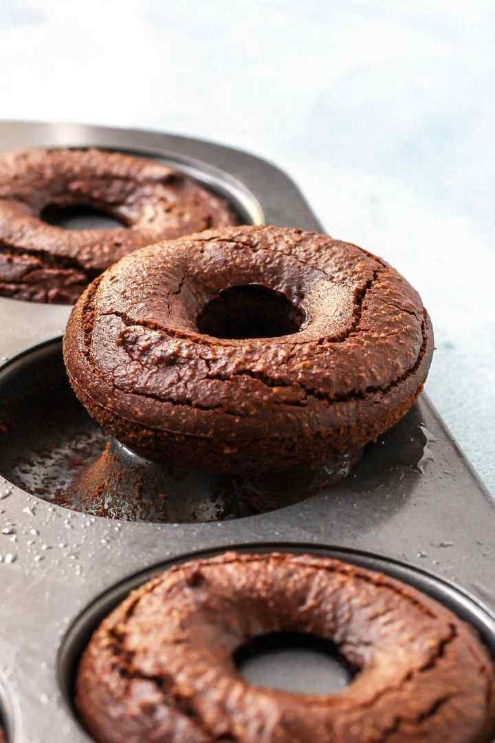 Quadruple Chocolate Peanut Butter Donuts