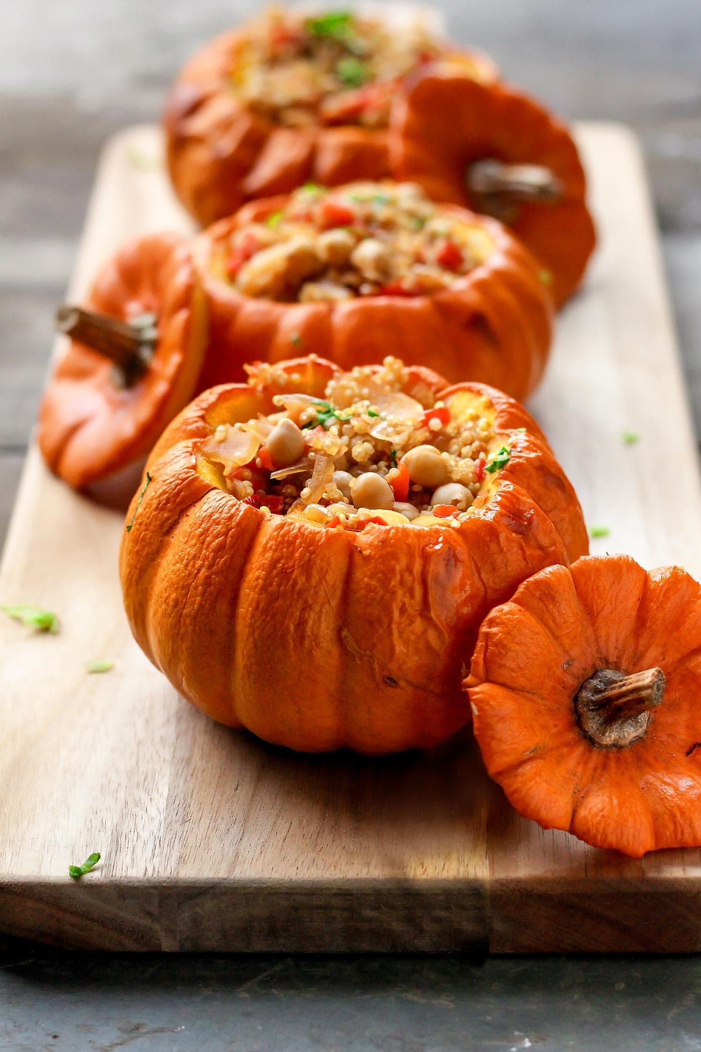 Quinoa Risotto Stuffed Pumpkins